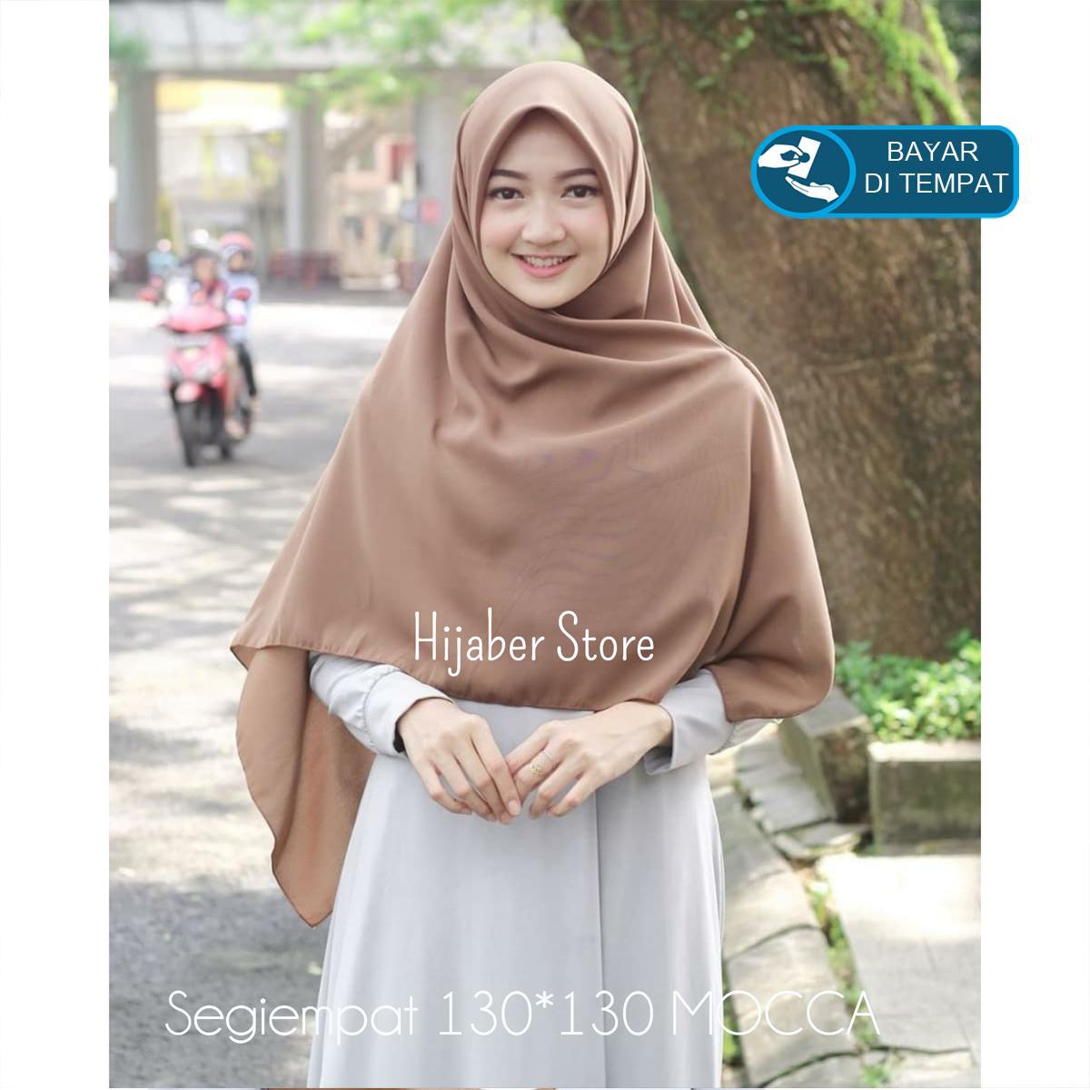 Jilbab / Hijab Segiempat 130x130 cm Wolfis - Kerudung Segi Empat 4