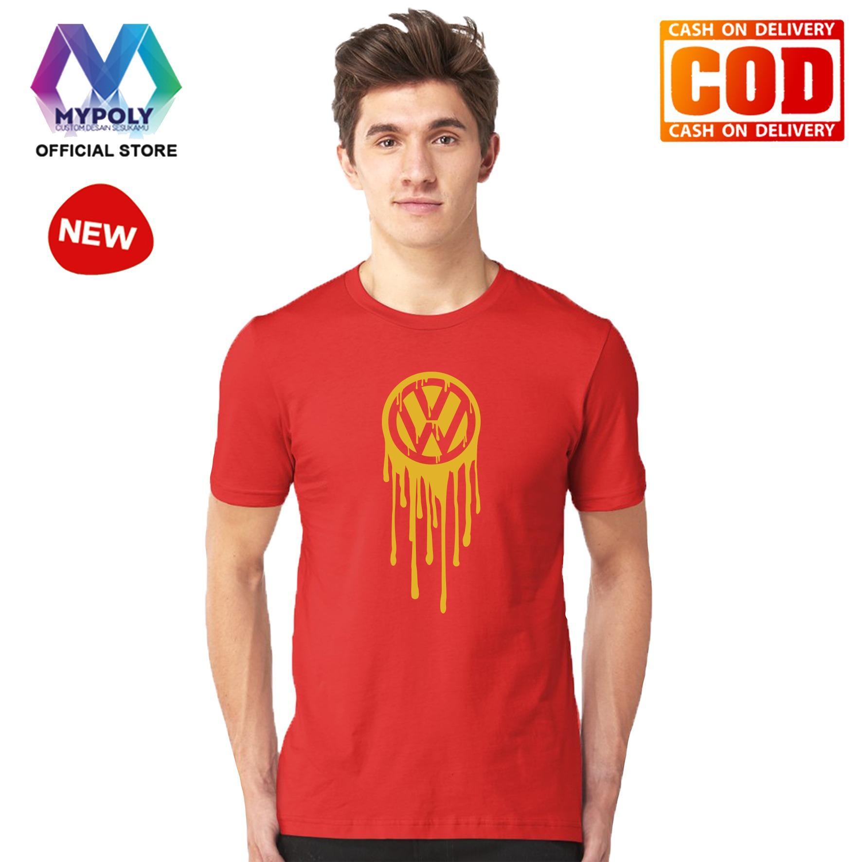 Kaos Premium Mypoly Pria Laki-Laki PL / Baju Couple Family Keluarga / Tshirt distro Anak Wanita / Fashion atasan / Kaos Pria Dewasa VW Gold
