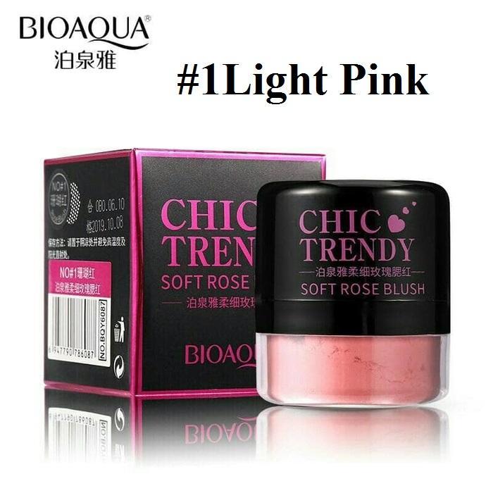 Bioaqua Chic Trendy Soft Rose Blush On Powder - Perona Pipi  - 4gr