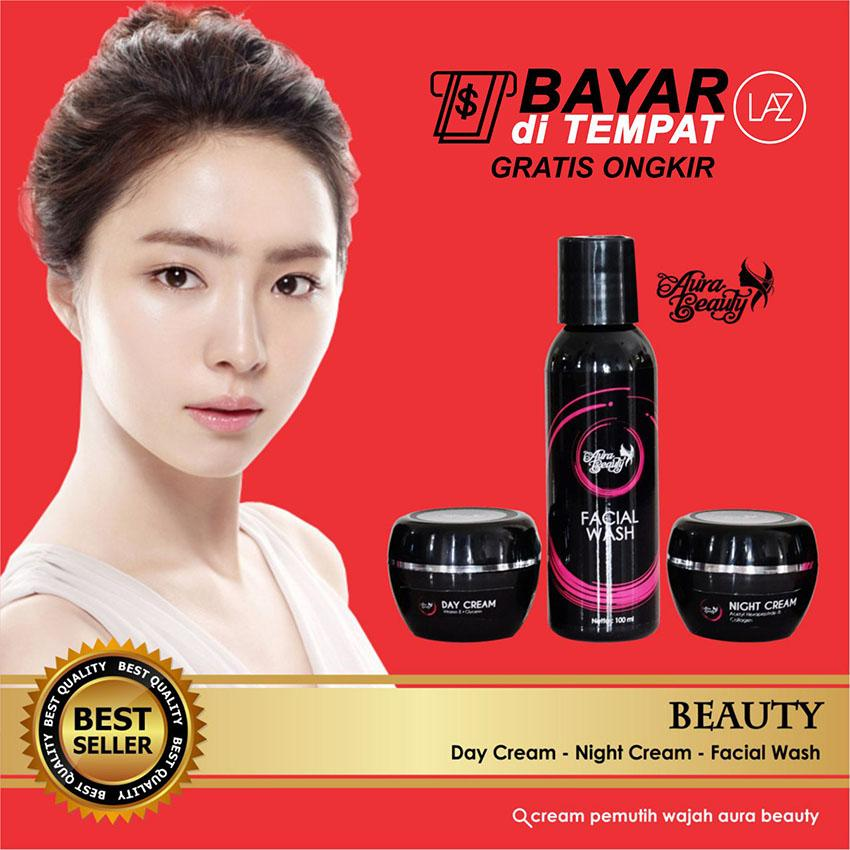 AURA BEAUTY PACKAGE NON SERUM CREAM PEMUTIH & PENCERAH WAJAH 100% ORIGINAL