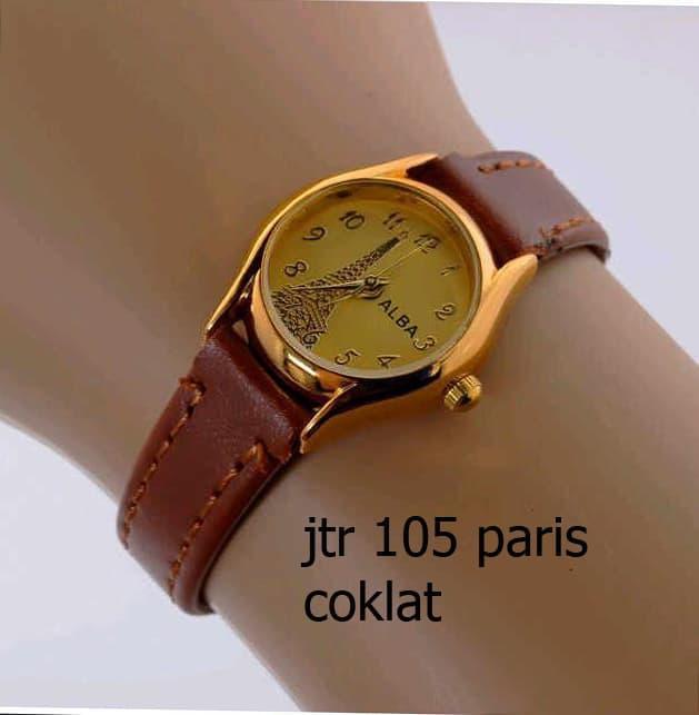 jam tangan alba wanita / jtr 105 paris coklat