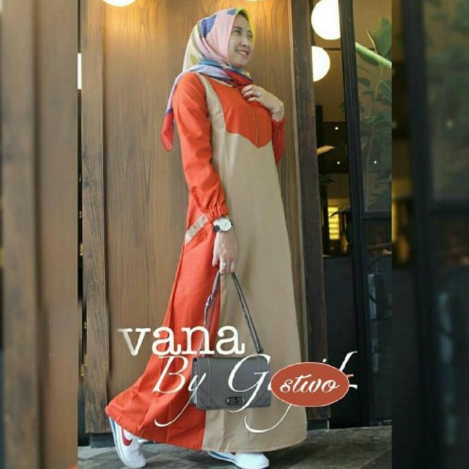 Terlaris Gamis Wanita Vana Dress Ik / Gamis Jumbo / Grosir Gamis Murah Wanita | Baju Lebaran Muslim