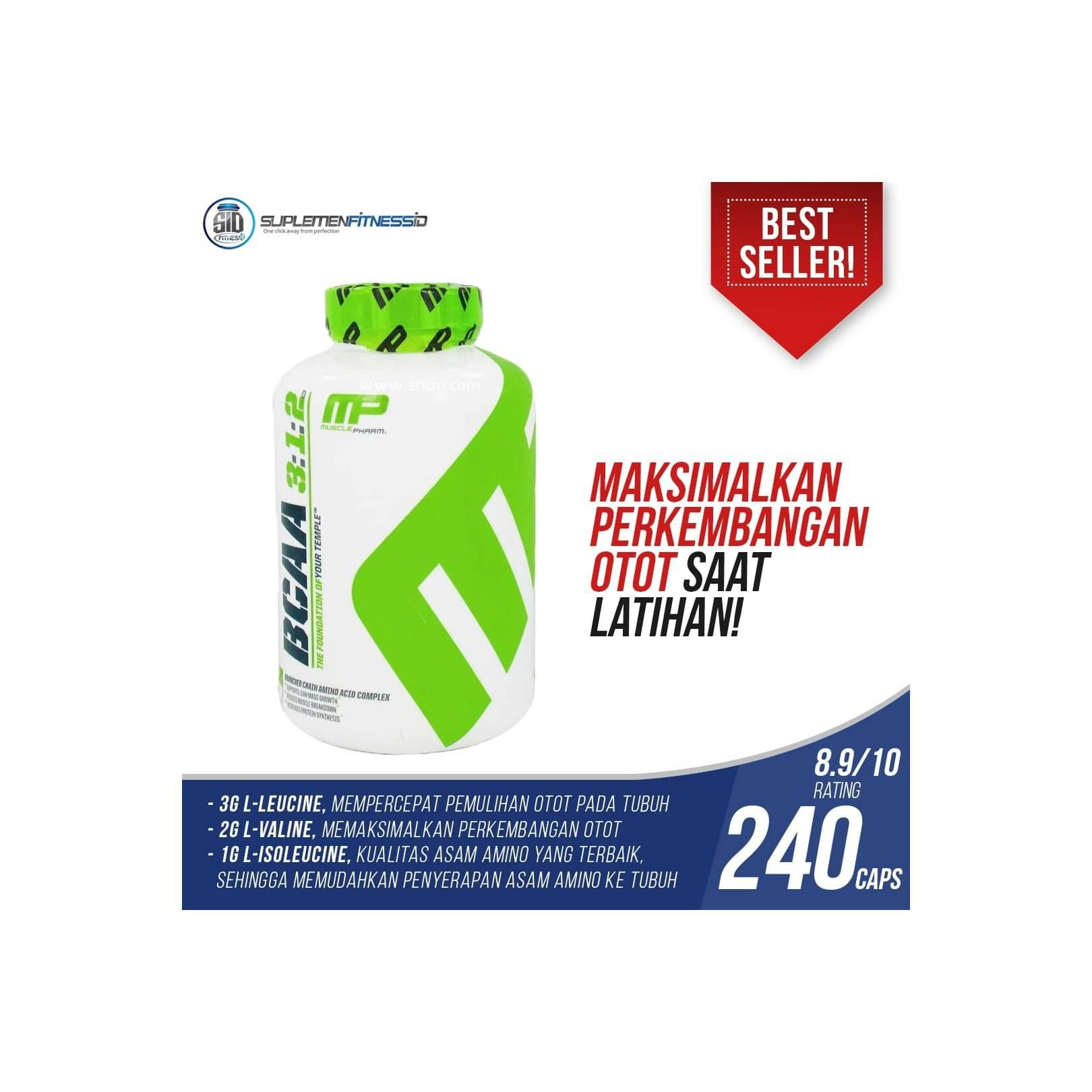 ... MusclePharm - MP BCAA ECER 100 CAPSULES. Source · Rp 424.000