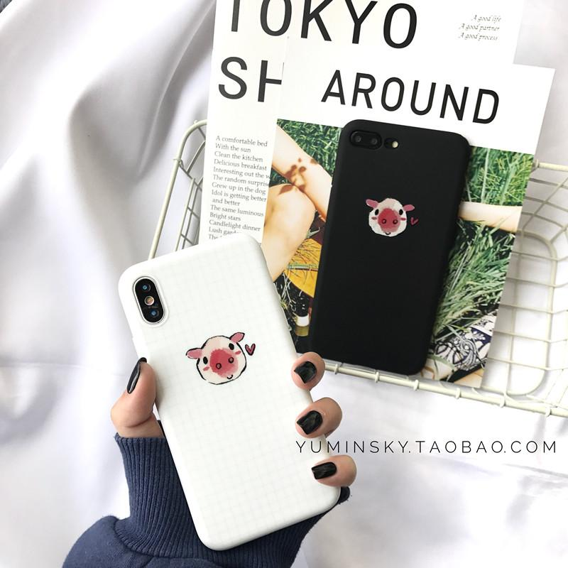 Gaya Korea Kecil Imut Silikon Lunak Iphone8/7 Plus iPhone Bungkus Penuh