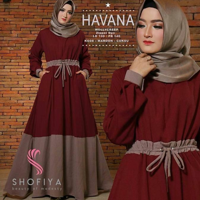 Best Seller Havana Dress Syari / Gamis Syari / Gamis Jumbo / Baju Murah | Baju Lebaran Muslim Wanita