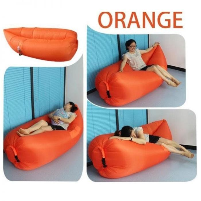 Winnia - Sofa Malas Air Bag / Kasur Angin Lamzac / Kursi Malas ( Orange )