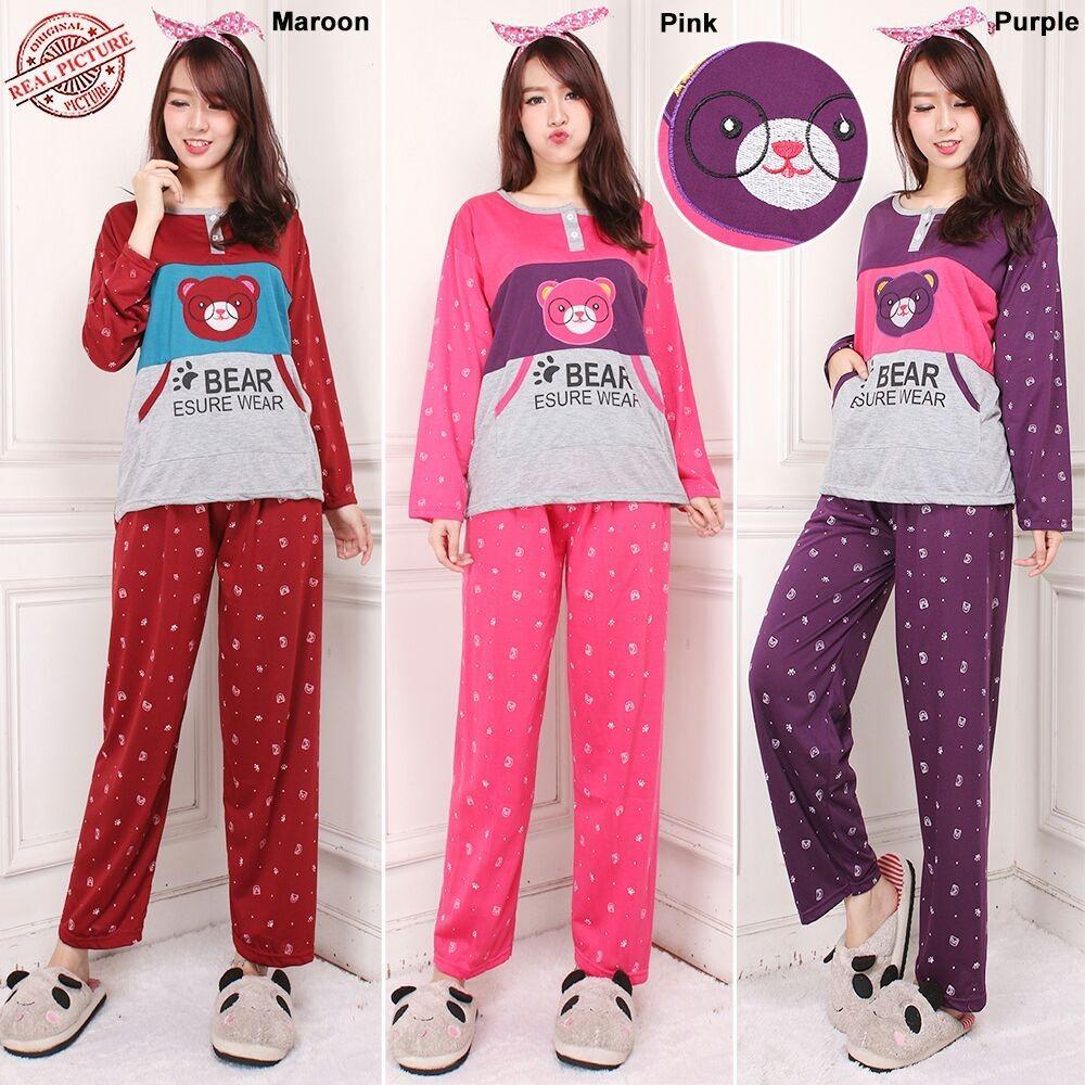 SB Collection Stelan Baju Tidur Cindy Piyama Dan Celana Panjang Jumbo Wanita