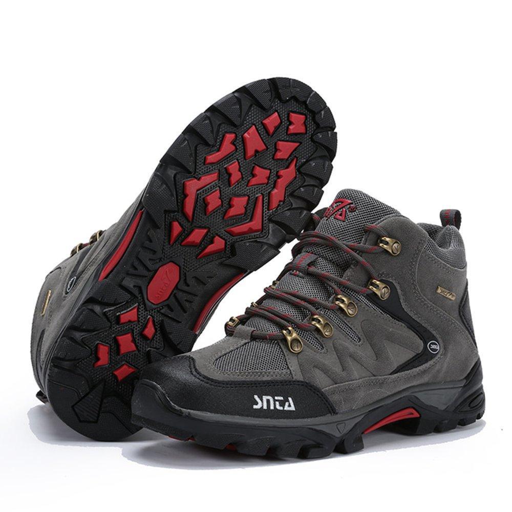 Sepatu Gunung SNTA Tipe 469 Warna Abu Abu Merah, Sepatu Hiking Boot Pria