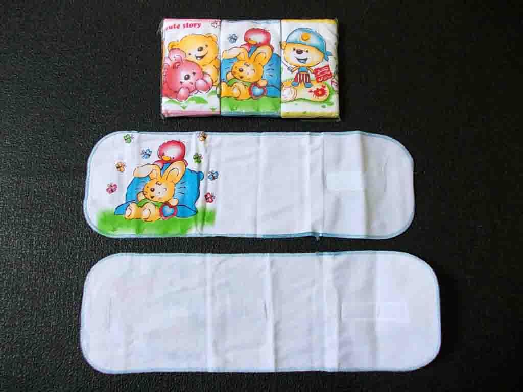 Buy Sell Cheapest Gurita Bayi Rekat Best Quality Product Deals Motif Putih Tempel Instan 3 Pieces C10