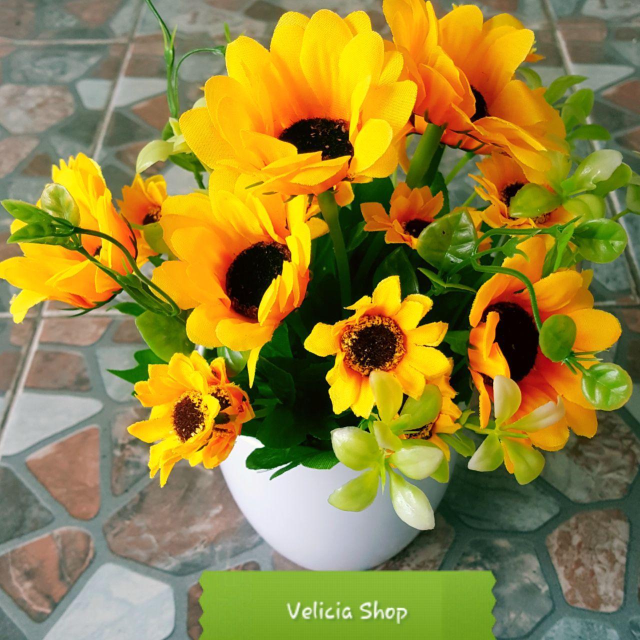 Hias - Bunga Pajangan - Bunga Artificial - Pot Bulat EK8880IDR46500. Rp . 676c987153
