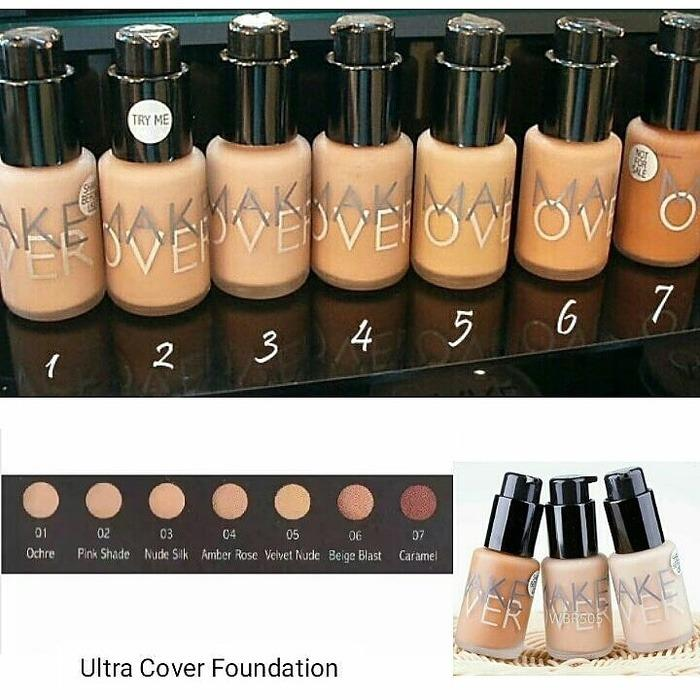 Make Over Ultra Cover Liquid Matt Foundation Nude Silk 03