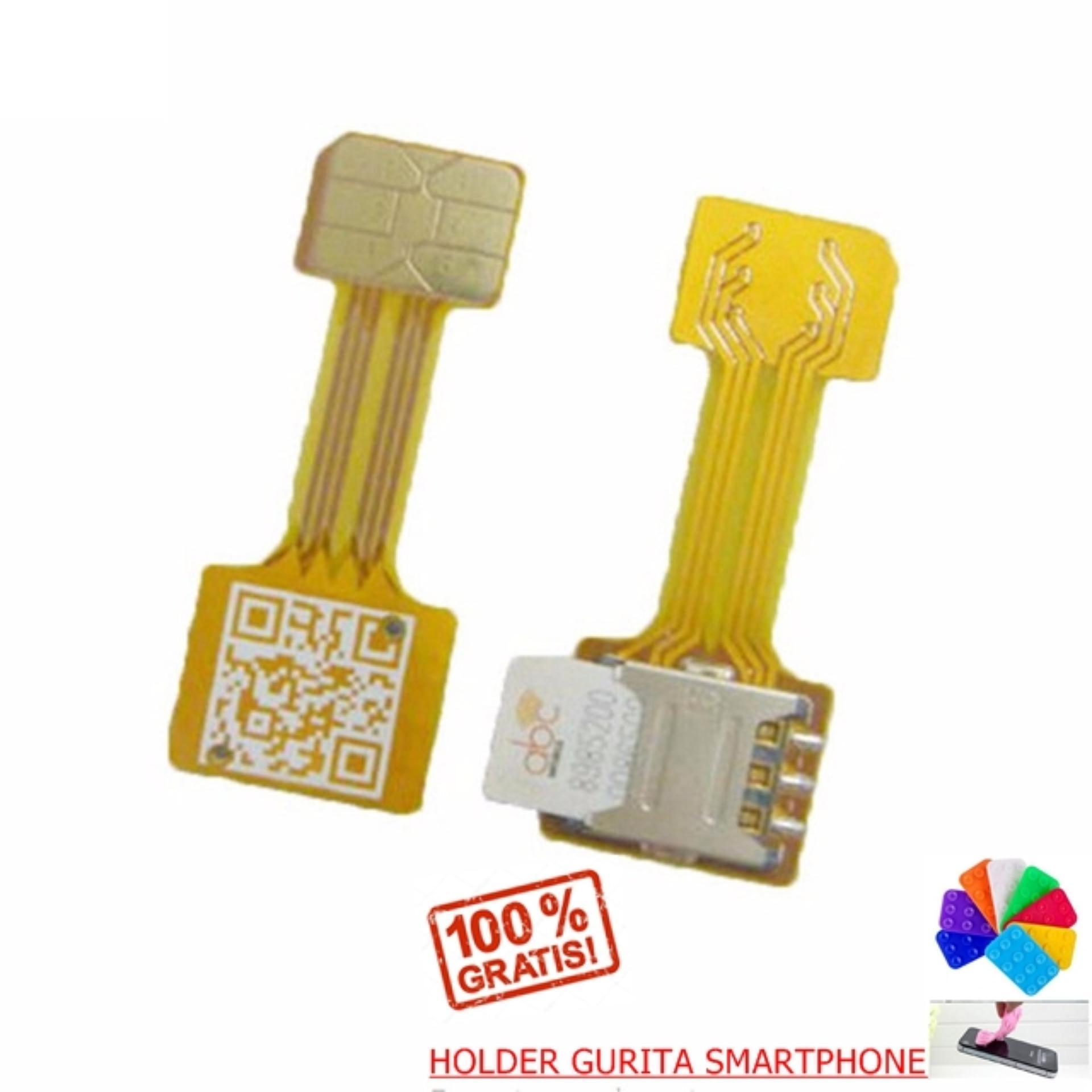 Xiaomi Micro Extender Hybrid Slot SIM Dual SIM Converter Adapter + Free Holder Gurita