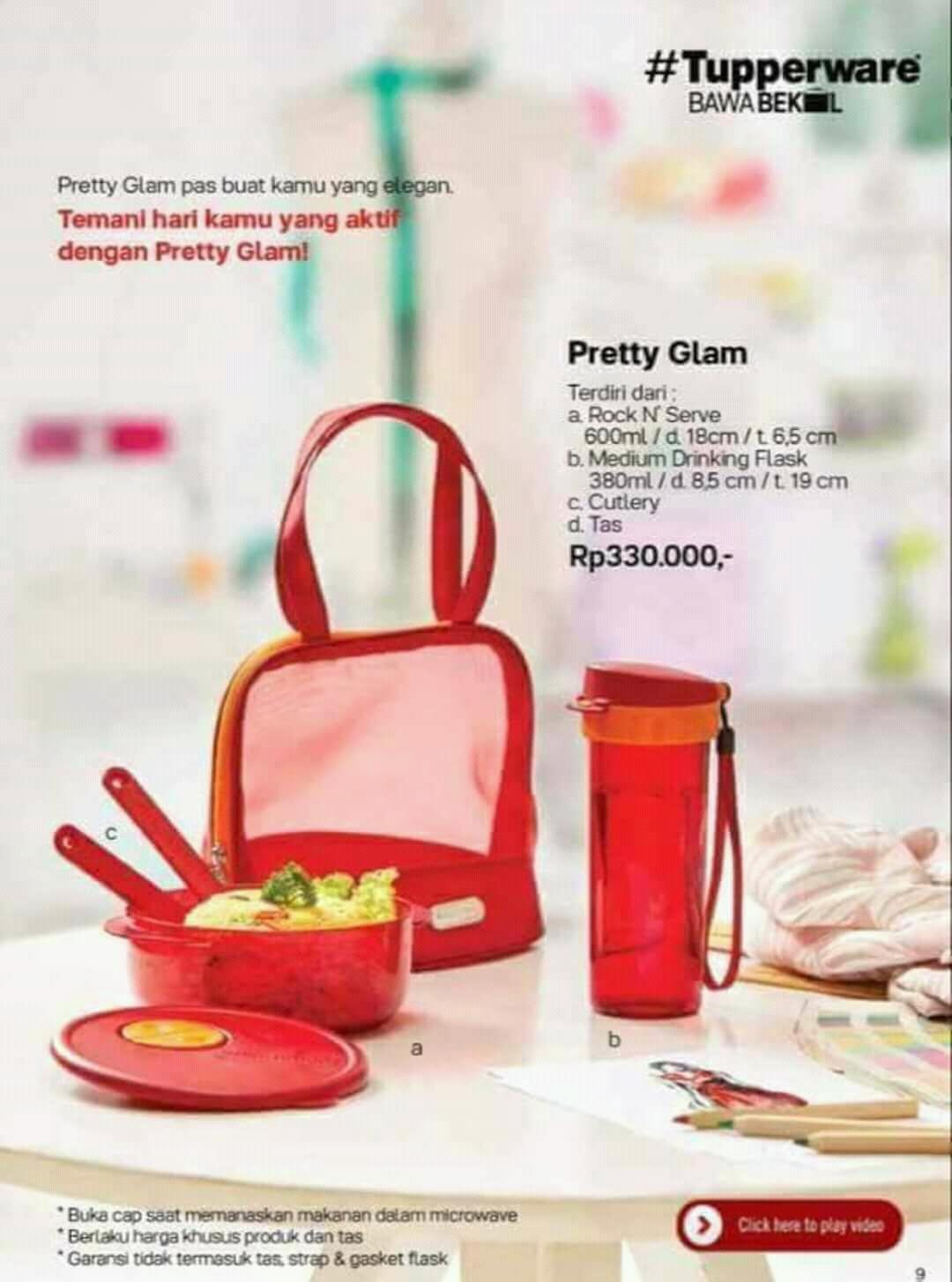 Tupperware Pretty Glam/paket bekal/tempat makan