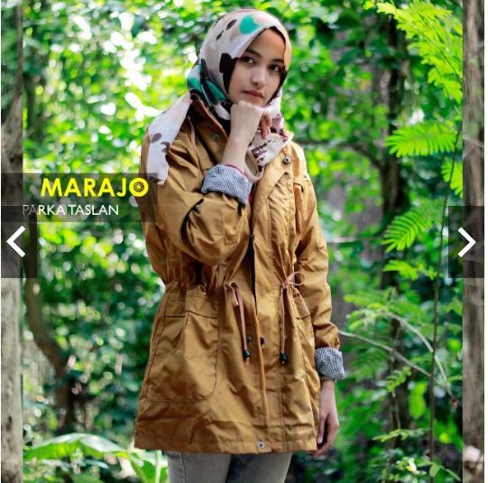 Jaket Parka Taslan Anti Air Premium Wanita Bahan Parasut Lembut Outer Hoodie Musim Hujan Waterproof