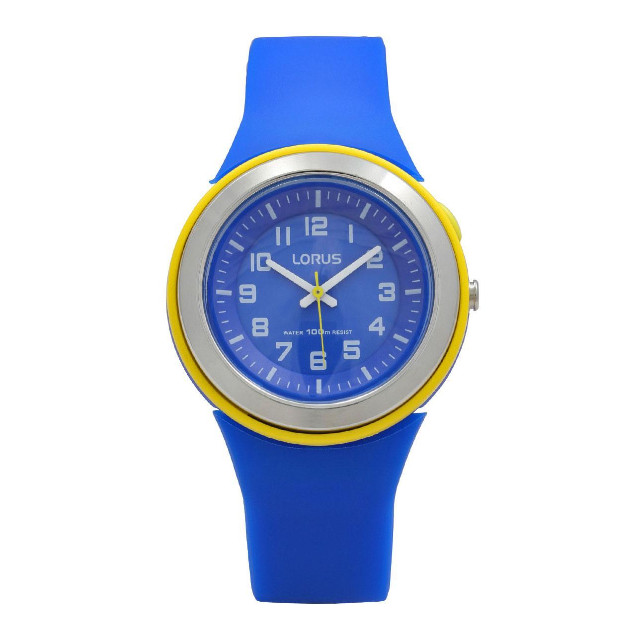 LORUS Jam Tangan Wanita - Blue Yellow - Silicon - R2307MX9
