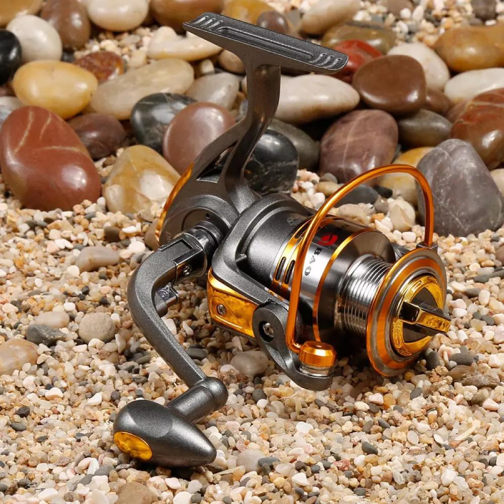 Termurah - Debao Gulungan Pancing DB3000A Metal Fishing Spinning Reel 10 Ball Bearing - Golden