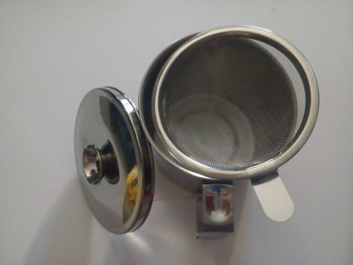 Oil Pot Stainless Steel / Wadah Minyak Goreng