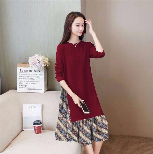 Milea Secret's / Dress Tiana Batik / Dress Wanita