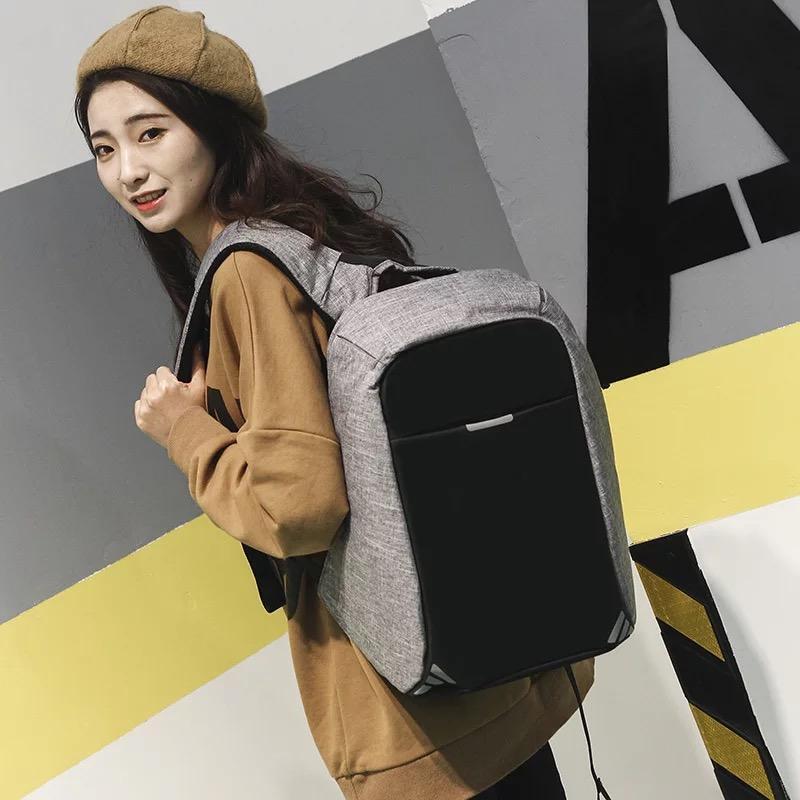 Tas Ransel Key Bag  Anti Theft Outdoor Dailypack Laptop Bobby Backpack -1504-14ZV Tas Pria Tas Kerja Tas Fashion Pria FREE USB PORT+CABLE