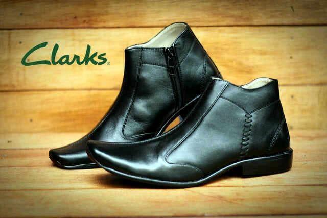 Sepatu Pria Clarks Retsleting Kulit Hitam / Sepat PREMIUM QUALITY 0 - 5QNbCS