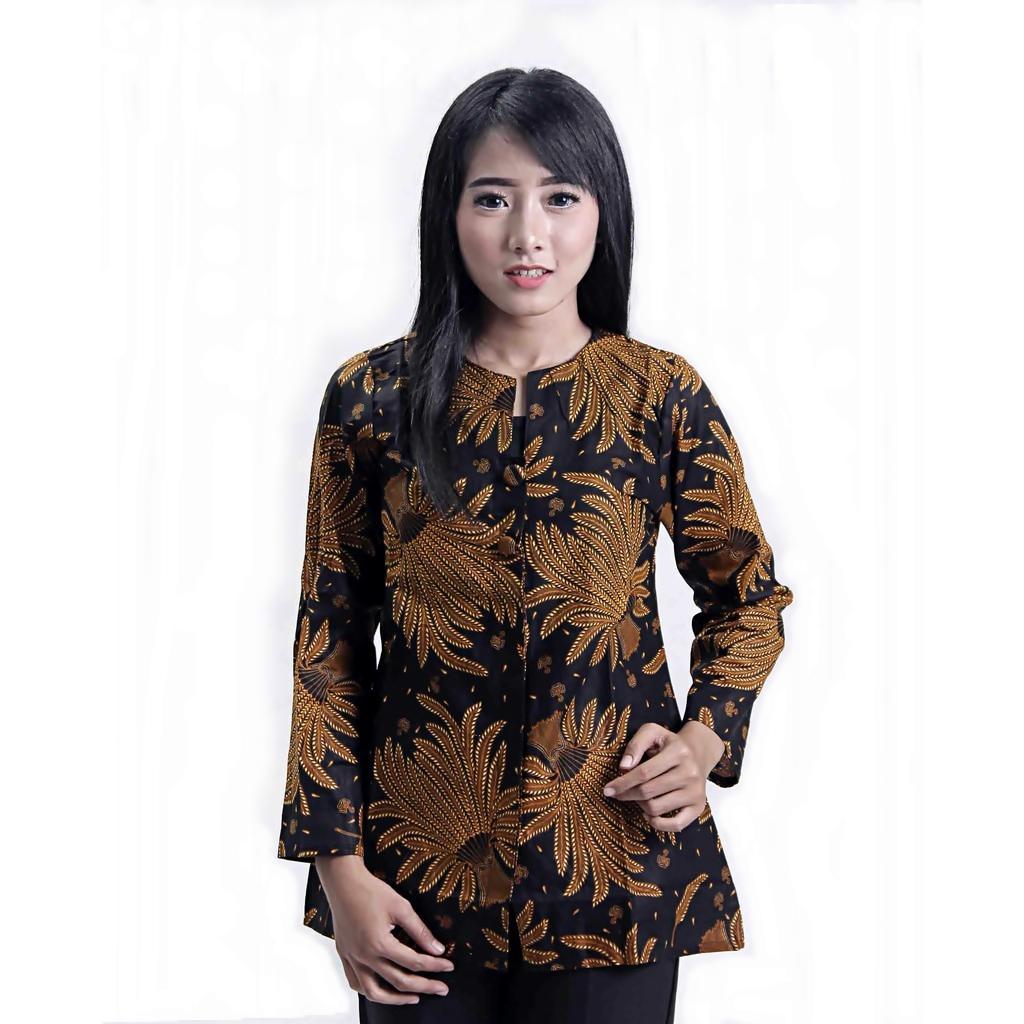 Batik - Blouse Batik / Blus Batik / Blouse / Blus / Baju Batik / Batik Kerja / Baju Batik Wanita / Baju Atasan Wanita / Baju Batik atasan / Model Baju Batik / Baju / Batik Modern Sogan Padi