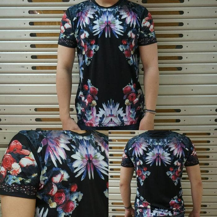 kaos oblong DOLCE & GABBANA flower printed unis3x mirror 1:1 - 1z9Vhv