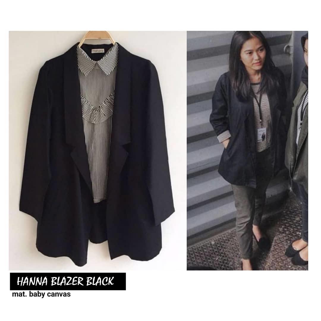 HANNA BLAZER ||| nouska shop ||| jaket sweater baju atasan blouse rajut hijab terbaru kekinian cewek wanita murah