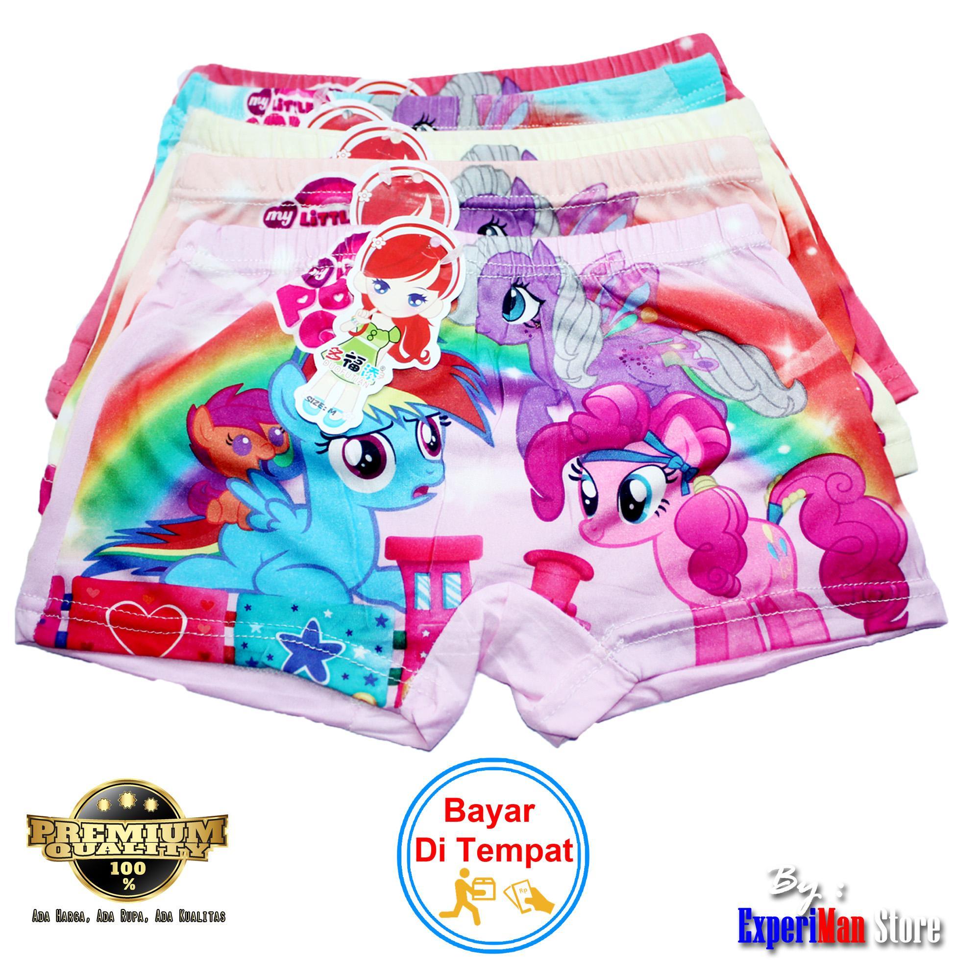 6 Pcs Celana Dalam / Boxer Anak Perempuan Motif Litle Pony