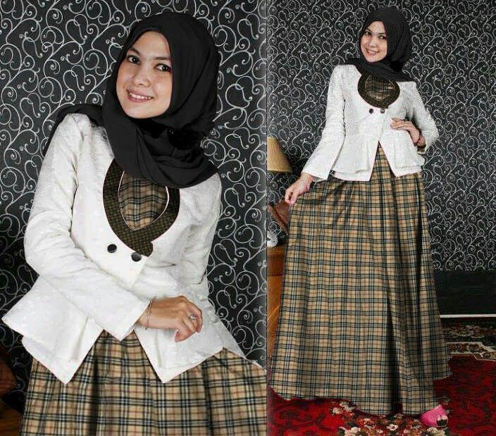 J&C Setelan Blazer Hasna BBR / Baju Muslim / Setelan Muslim 3in1 / Dresss Muslim /