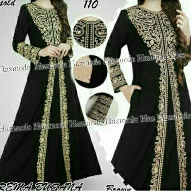 Abaya Kebaya NEW MOTIF BEST SELLER Gaun Dres Jubah Gamis Bordir Gladiator (XL)