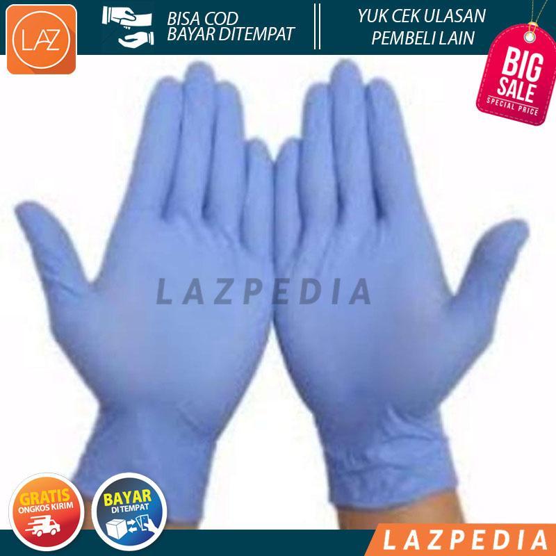 Laz COD - 2psg - Sarung Tangan Nitrile Examination Gloves Non Powder - Lazpedia / B104