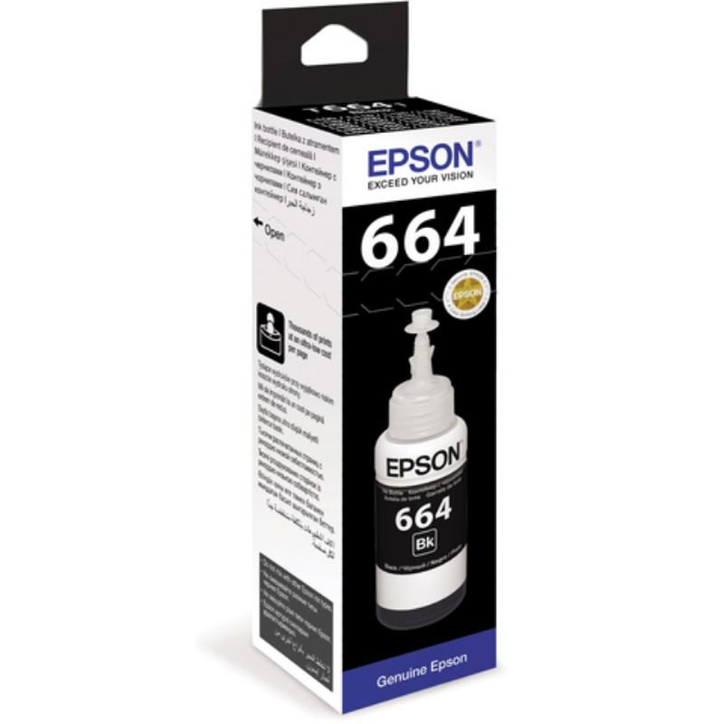 TINTA PRINTER EPSON - INK CARTRIDGE EPSON 664 [T664] Black