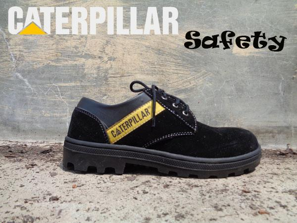 Termurah Sepatu Caterpillar Safety Boots Pendek Kalio Warna Hitam Suede - Hitam, 39 Gudang Fashion