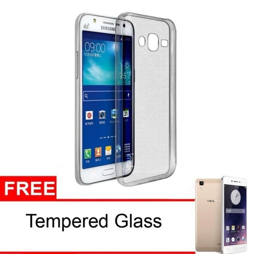 D-R case / Softcase for Samsung J2 ( biasa ) transparan + Gratis Tempered Glass