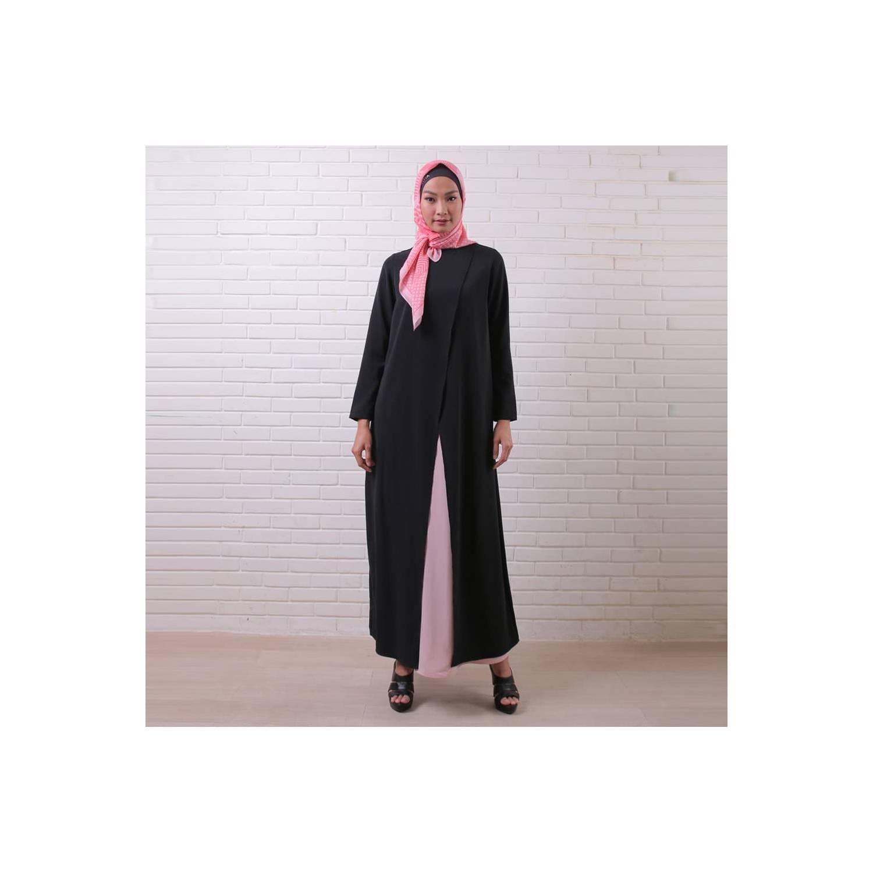 Zoya Dress Gamis Muslimah Cantik - Bianca Dress - Hitam, XL
