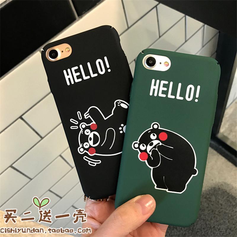Kumamoto Beruang Selubung Ponsel 6 Plus/7 Plus iPhone Apple Identitas Asli Selubung Lulur