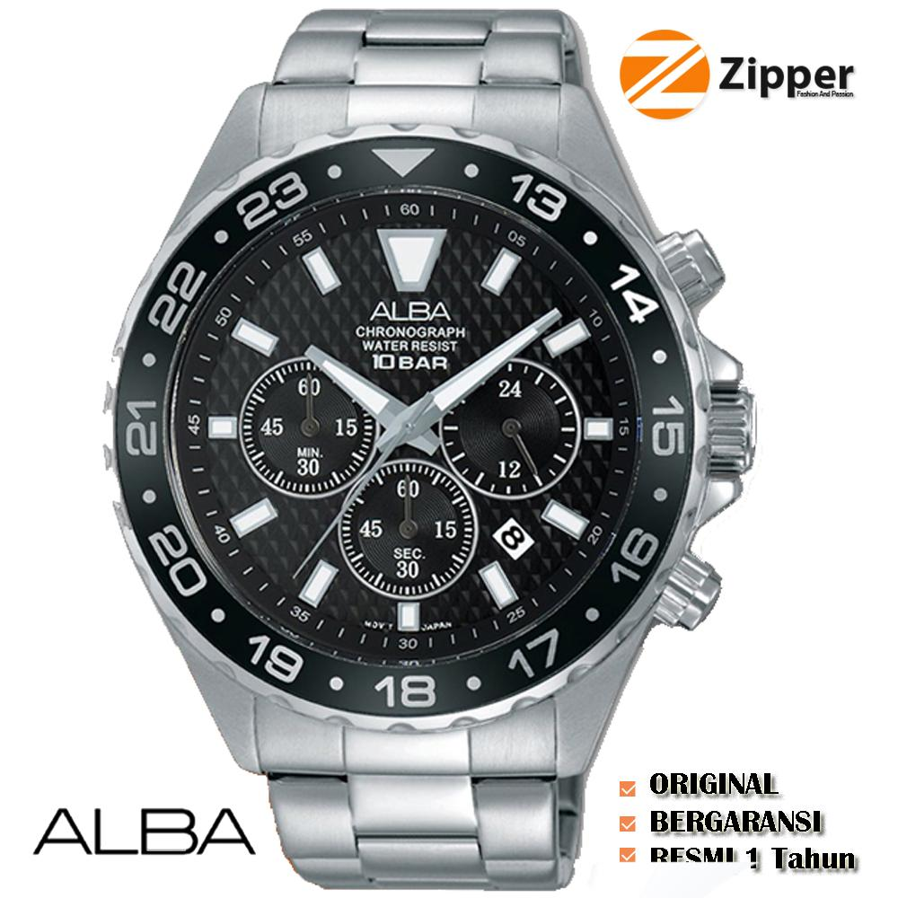 Alba Active Chronograph Jam Tangan Pria - Tali Stainless Steel - AT3907X1 94f6fd9207