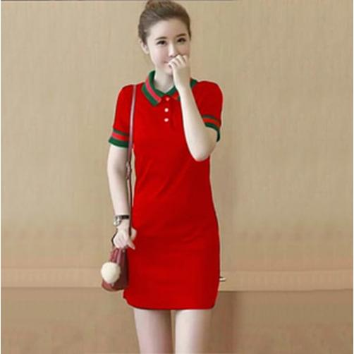 Dress wanita babyterry merah  [guci wk red RO]