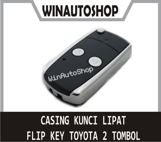 Promo Gajian Casing Cover Kunci Lipat Flip Key 2 Tombol untuk Innova, Jazz, dll