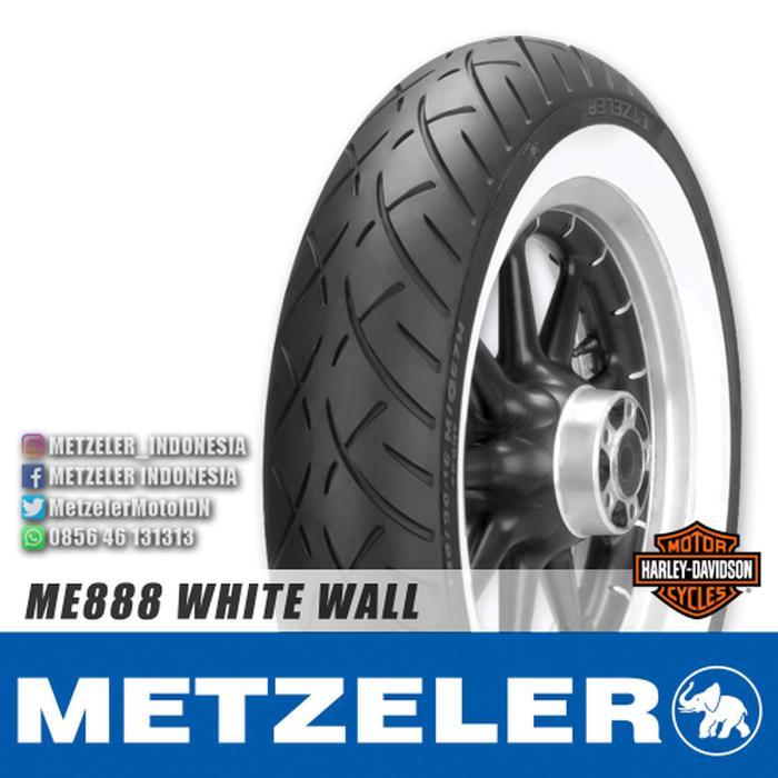 BAN MOTOR HARLEY DAVIDSON METZELER ME888 WHITE WALL 180/65B16 81H TL