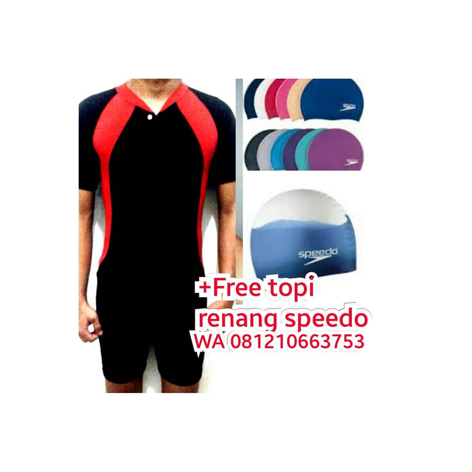 Jual baju renang baju diving pria wanita dewasa anak perempuan topi l