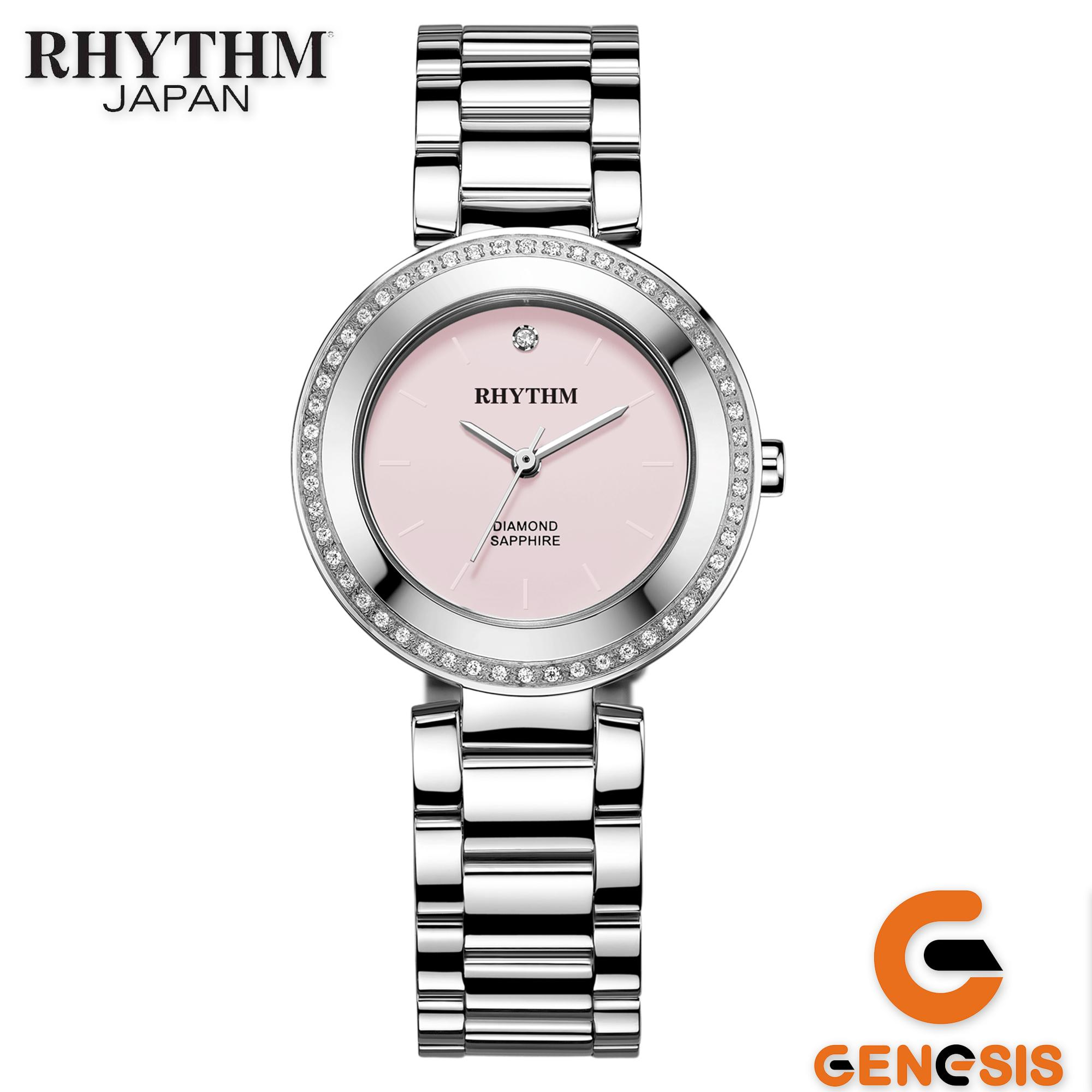 Rhythm Traditional Collection R1204s 05 Jam Tangan Wanita Daftar L1201s 03 Stainless Silver Gold Tali Rantai Logam Stainlees Steel Quartz Shappire Glass L1202s02