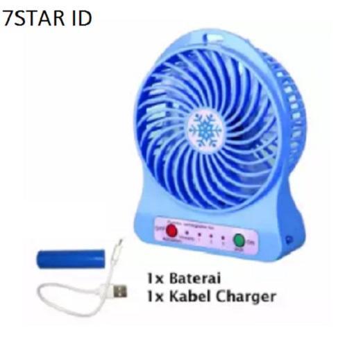 Kipas Angin Meja Mini Portable Travel Fresh Summer Desk Mini Fan - RANDOM COLOR