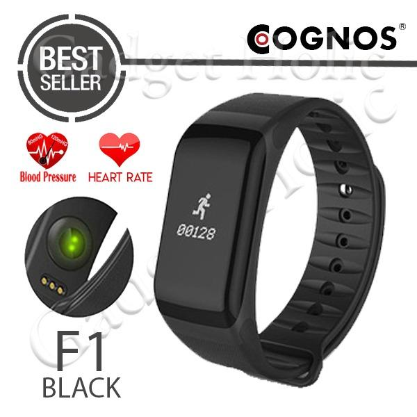 Cognos F1 Smartband Heart Rate Blood Pressure Wristband Smart Watch Smart Band Smartwatch - Hitam