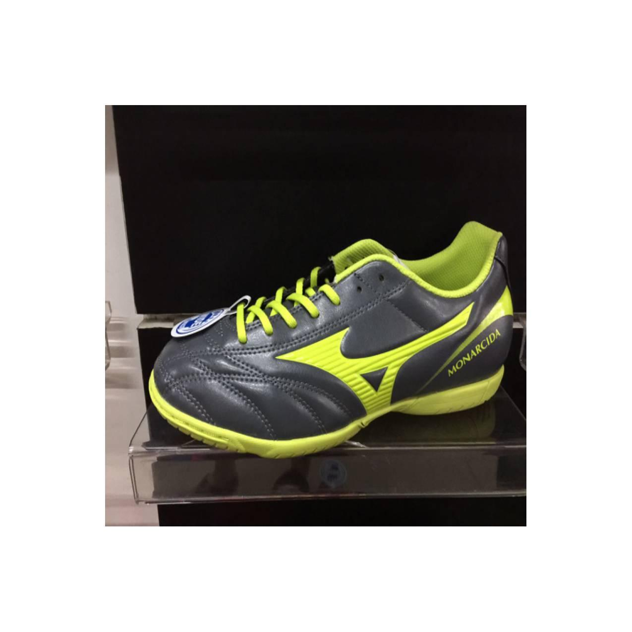 Sepatu futsal mizuno original monarcida 2 FS IN (wide) darkshadow/lime