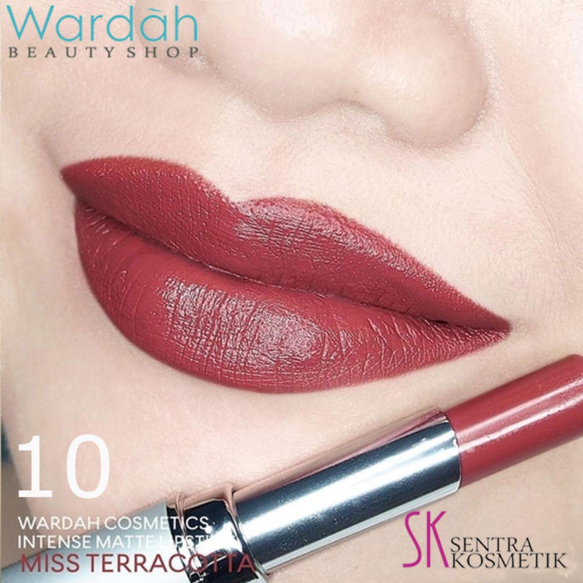 ... Wardah Intense Matte Lipstick 10 Miss Terracotta