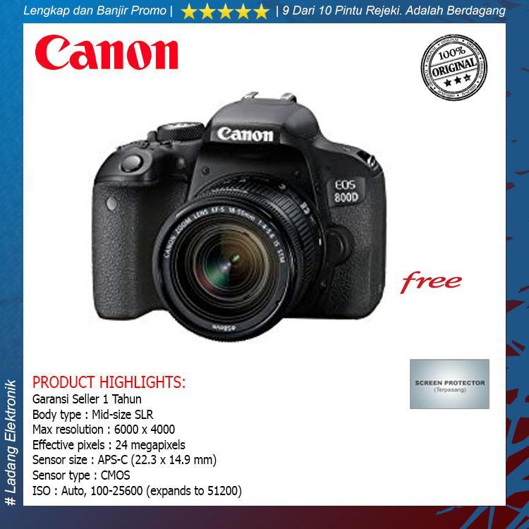 Canon EOS 800D Kit 18-55mm Kamera DSLR (Free Screenguard Terpasang) / Garansi Distributor