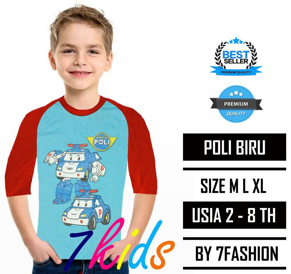 7kids terlaris poli biru / kaos anak laki laki perempuan / pakaian anak / baju anak harian atasan / fashion pria wanita / kaos cowok cewek / kaos kartun lucu / kaos murah grosir / kaos karakter super hero