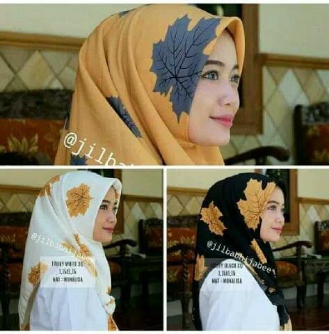 Kerudung Segiempat Hijab Remaja/Jilbab Pasmina Maple Terbaru