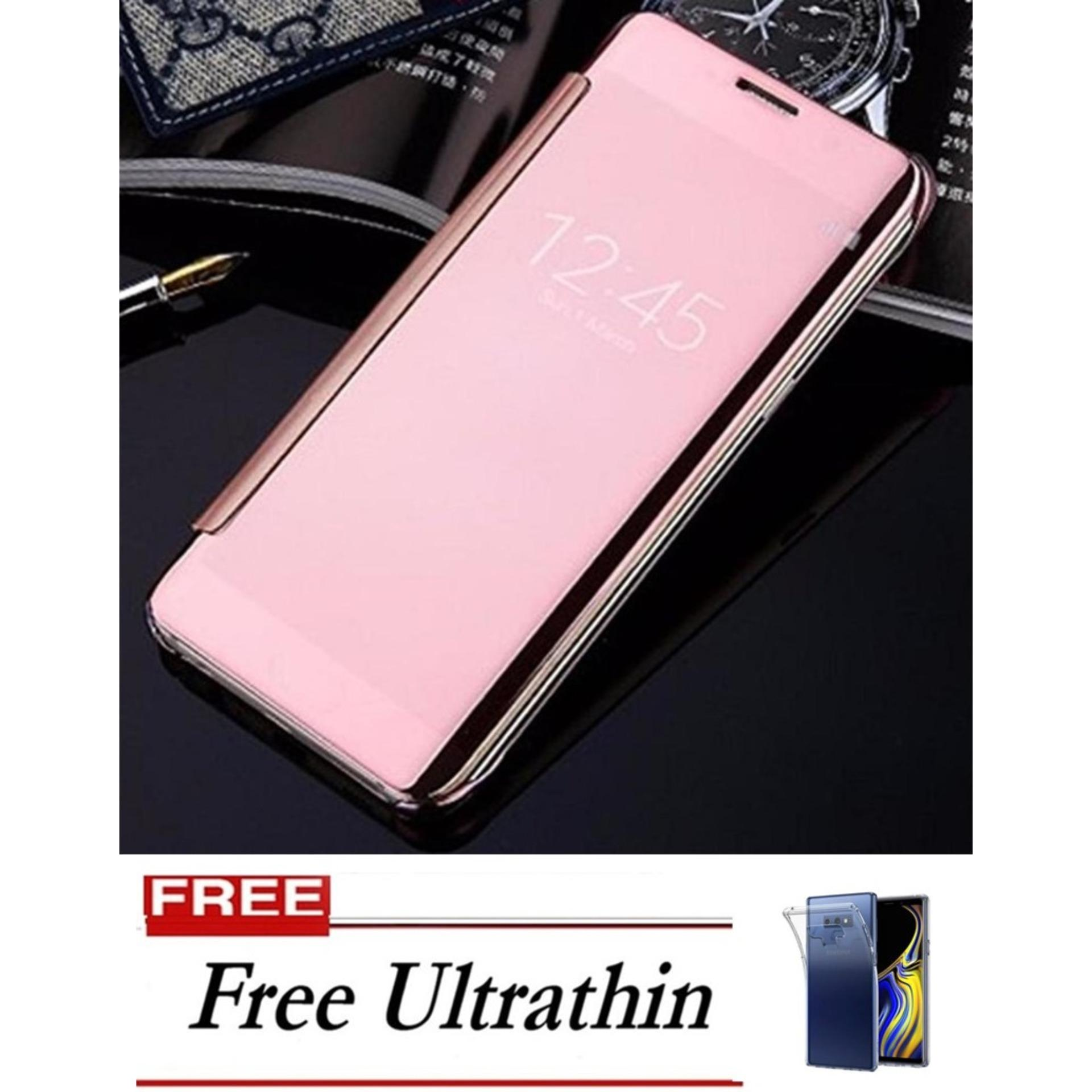 Flip Cover ORIGINAL STANDING CASE Smart S-View Mirror Auto Lock Samsung Galaxy Note 9 – Rose Gold FREE Ultrathin